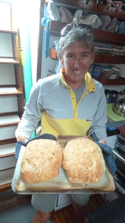 Nana Fi made bread all through the voyages